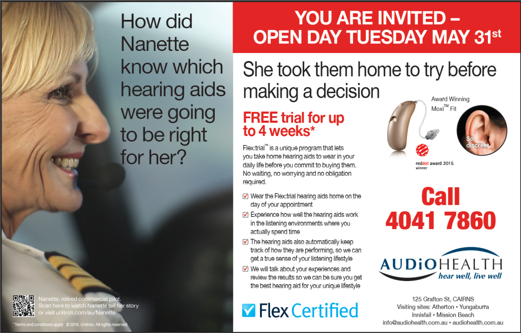 AUDiOHEALTH Cairns OPEN DAY 31st May 2016